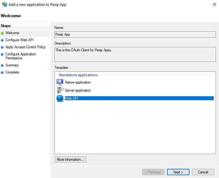 Using AD FS for client authentication   Pexip Infinity Docs
