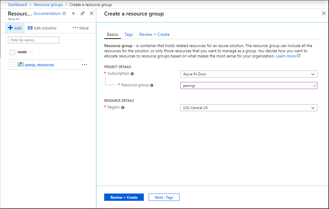 Creating VM instances in Azure for your Pexip nodes | Pexip