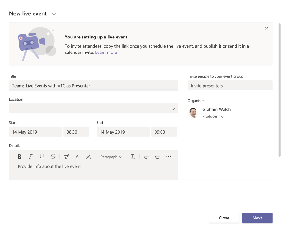 Using Pexip Infinity to stream from VTC systems into Microsoft Teams